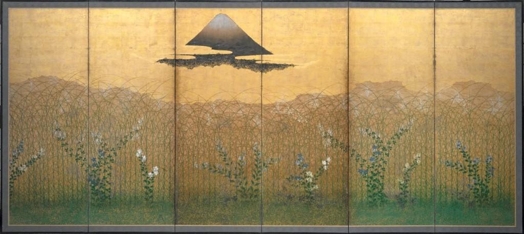 """Llanura de Musashi"" (1), autor desconocido, ss. XVII-XVIII"