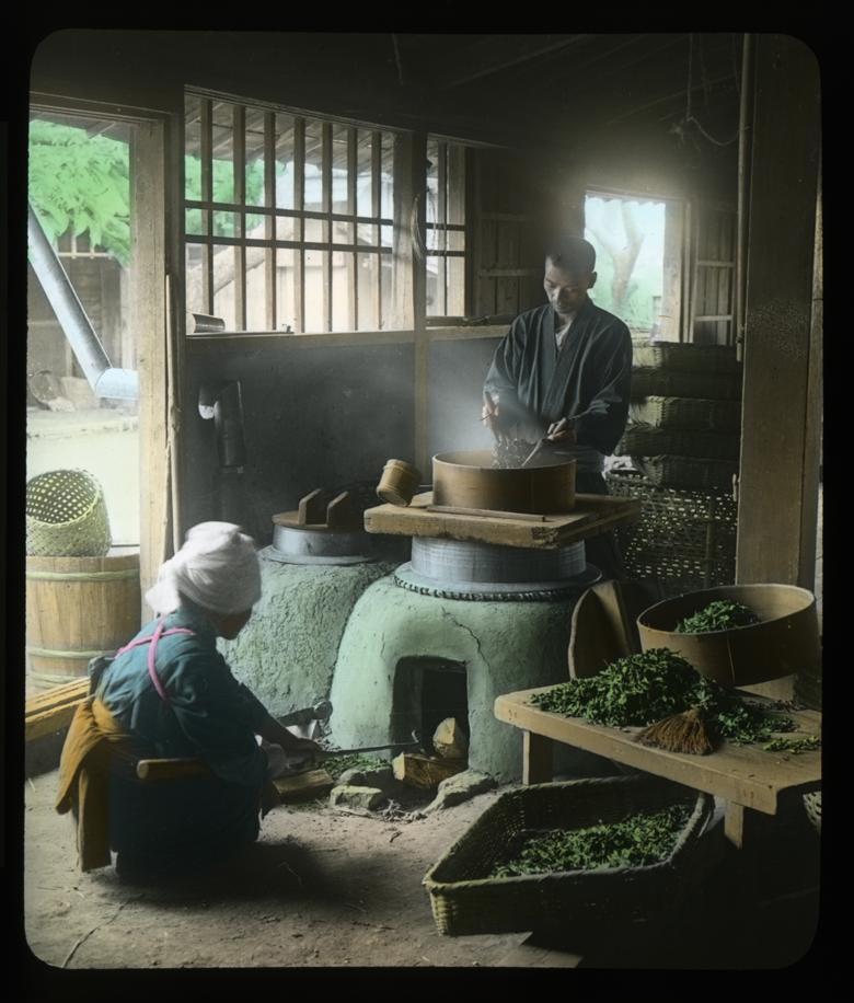 Secado de las hojas de té. T. Enami.