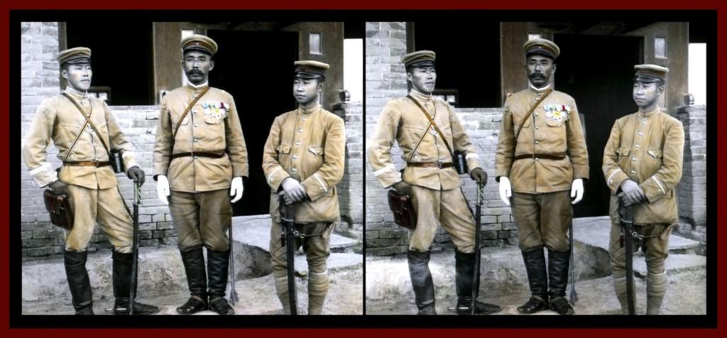 Oficiales militares en China durante la guerra Ruso-japonesa de 1904-05. T. Enami.