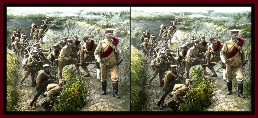 Tropas japonesas en China durante la guerra Ruso-japonesa de 1904-05. T. Enami.