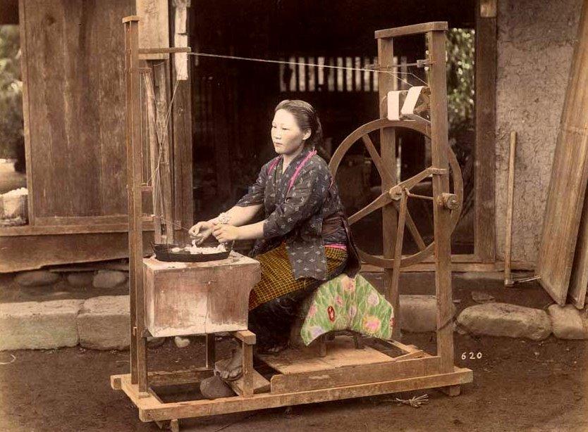 Hilado de la seda, T. Enami, ca. 1895.