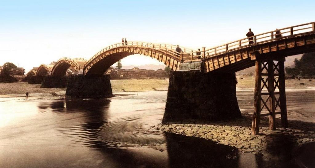 Puente de Kintai, en Iwakuni, T.Enami, ca. 1892-95.