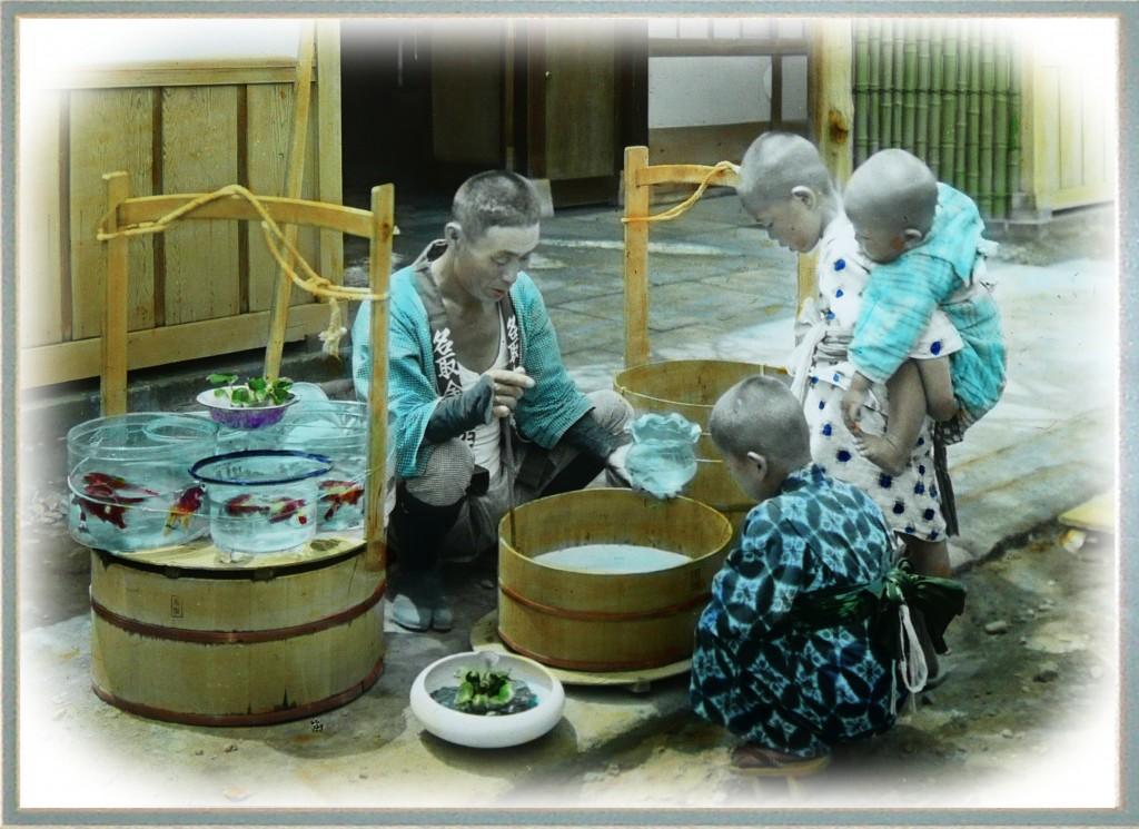 Vendedor de peces de colores. T.Enami.