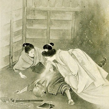 "Yuki-onna, de la obra de Lafcadio Hearn ""Kwaidan- Stories and Studies of Strange Things"" (1911) ilustrado por Keichu Takenouchi."