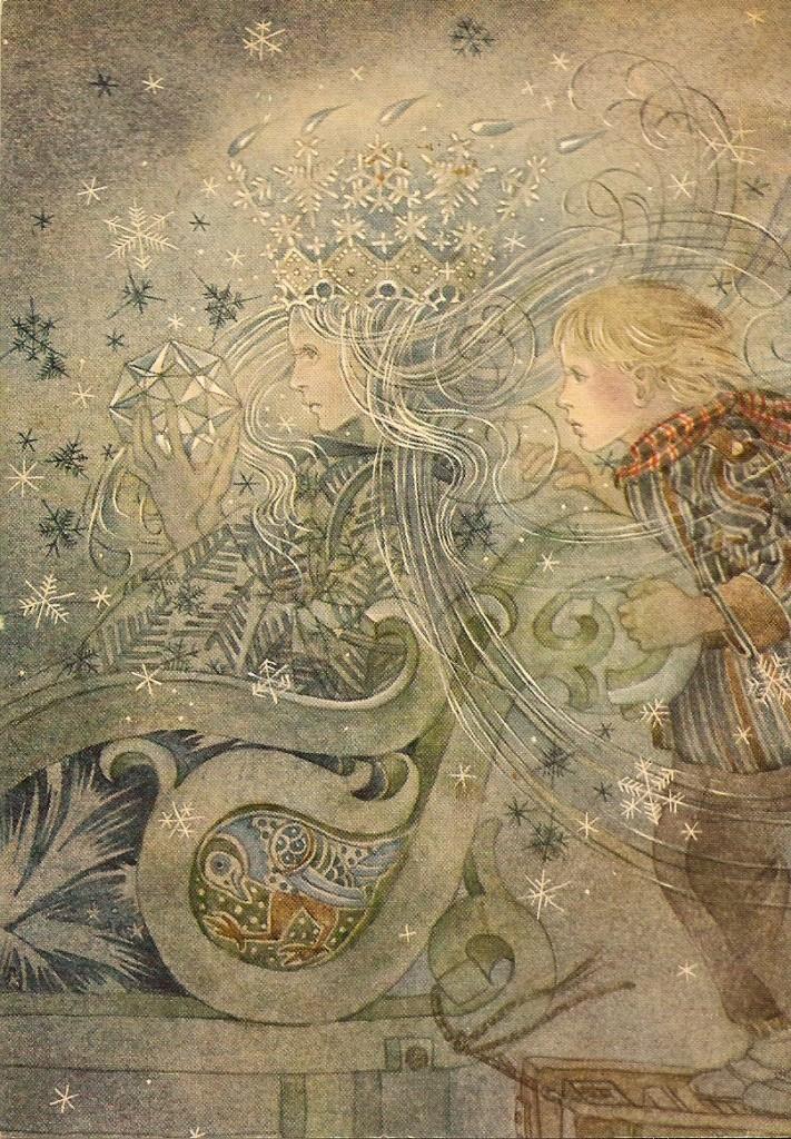 La Reina de las Nieves, ilustración de Sulamith Wülfing.