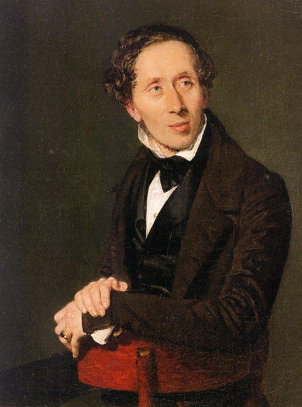Retrato de Hans Christian Andersen por Christian Albrecht Jensen (18369.