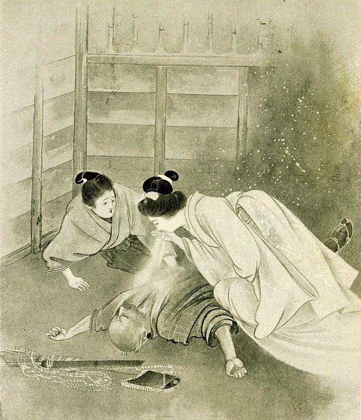 "Yuki-onna, de la obra de Lafcadio Hearn ""Kwaidan- Stories and Studies of Strange Things"" (1911) ilustrado por Keichu Takenouchi."